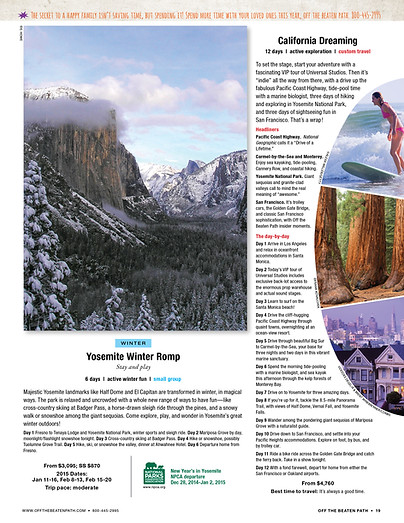 Travel Catalog Trip Page