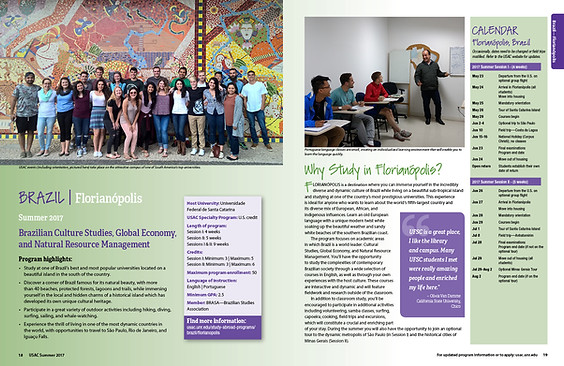 Studies Abroad Catalog Spread