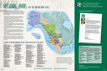 Travel Catalog Map Spread