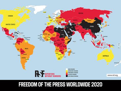 Lehdistönvapaus vaarassa koko maailmassa: Korona kiihdyttää sananvapautta uhkaavia kriisejä