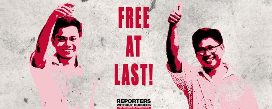 MYANMAR: Tutkivan journalismin voitto – Reutersin toimittajat vapautettu