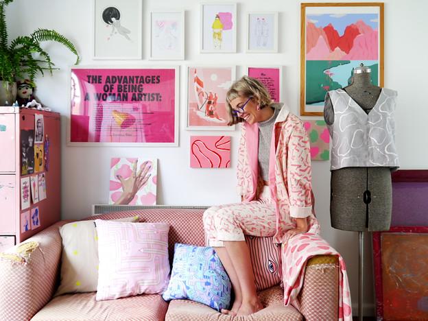 Abbey Rich. Designer. Photo shoot for Frankie Magazine.