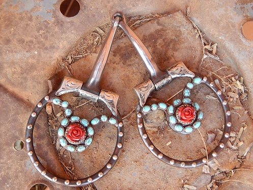 Red Rose D Ring Snaffle Bit