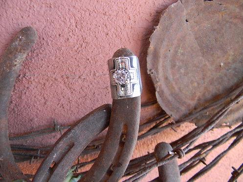 Zirconia Santa Fe Cross Ring