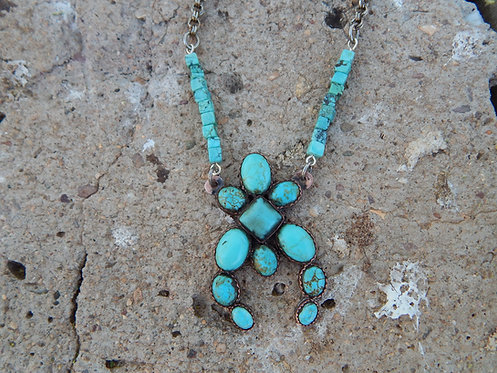 Turquoise Squash Blossom
