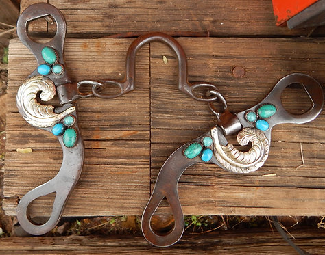 Turquoise Feather Chain Port Bit