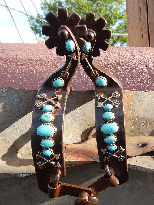 Crossed Arrow Turquoise All Around Spur