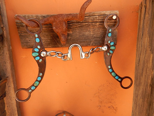 All Turquoise Chain Port Bit