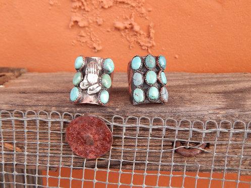 Prayer Hand Turquoise Rings