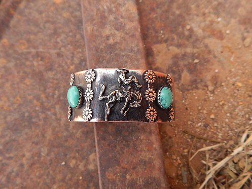 Floppy Bronc and Flowers Cuff