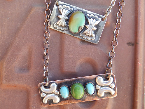 Southwest Style Bar Necklaces