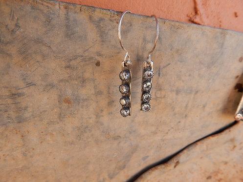 Zirconia Strip Earrings