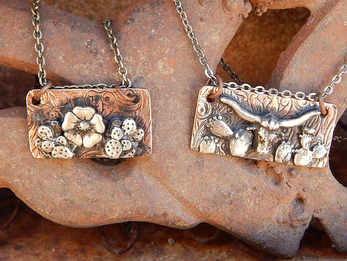 Petite Cactus Bar Necklaces
