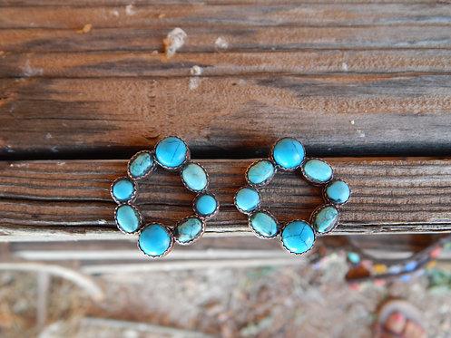 Turquoise Wheel Earrings