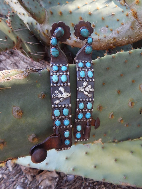 All Turquoise Ladies Prickly Pear Spur