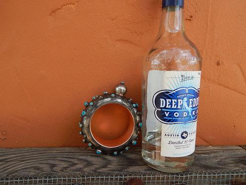 Turquoise Booze Bangle Bracelet Flask