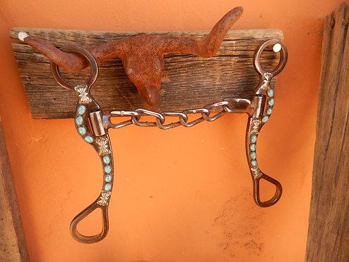 Silver Butterfly Concho Chain Bit