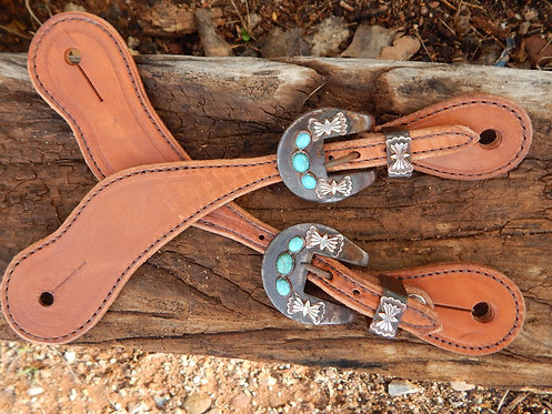 Turquoise and Silver Indian Butterfly Straps