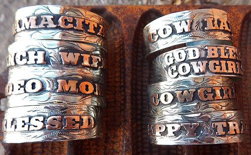 Fun Phrase Cuff Bracelets