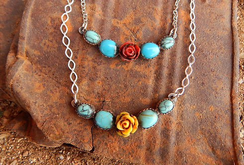 Rose Bar Necklaces