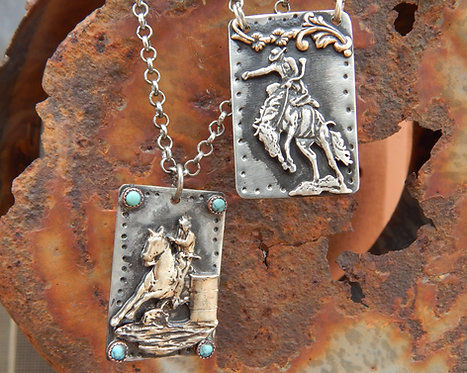 Bronc Buster and Barrle Racer Necklace