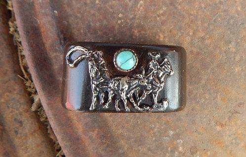Turquoise Team Roper Horn Knot