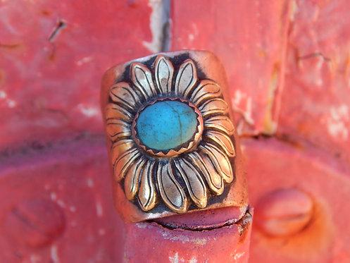 Turquoise Sierra Vista Sunflower Ring
