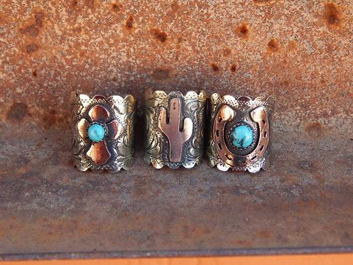 Engraved Cigar Band Rings