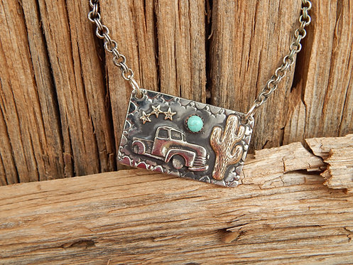 Old Truck Necklace