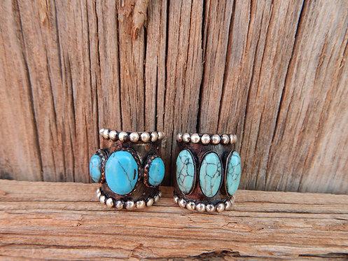 Big Turquoise Stone Rings