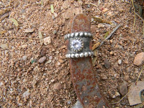 Dot Edge Zirconia Ring