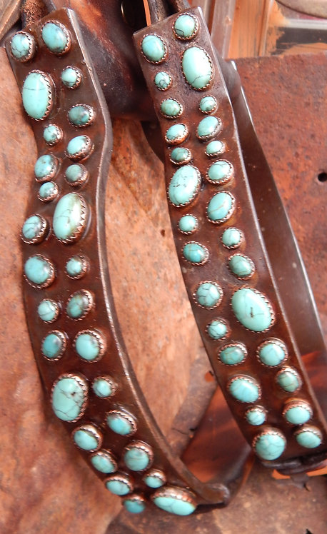 Rocked Out Turquoise Stirrups