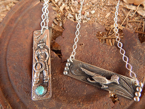 Road Runner and Beefcake Cowboy Necklaces