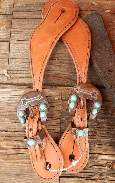 Open Arrow Ladies Spur Straps