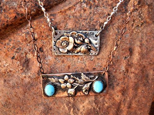 Flower Bar Necklaces