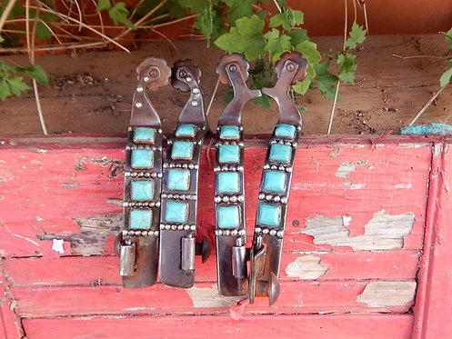 Ladies Square Turquoise Spurs