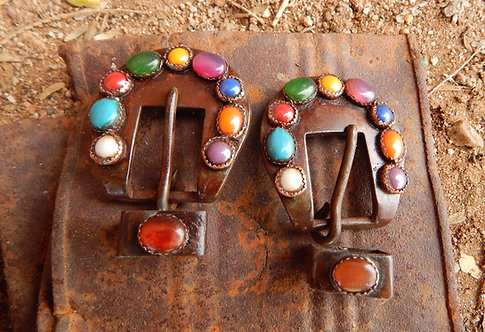 Circle of Color Buckle Pair