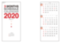 E196 3カ月玉カレンダー
