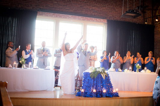 bridal party head table on stage