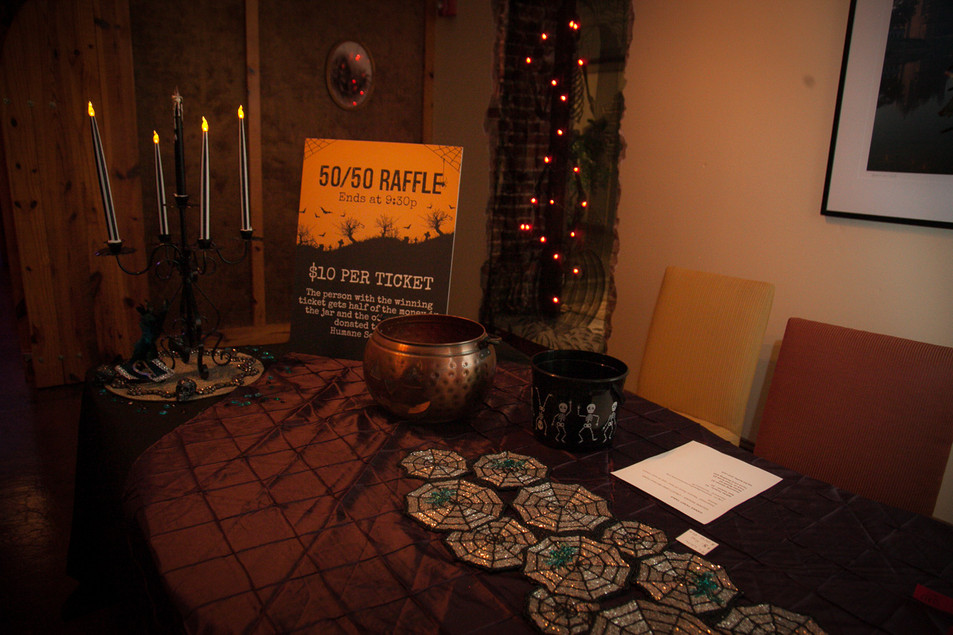 Raffle Ticket Table at Entry