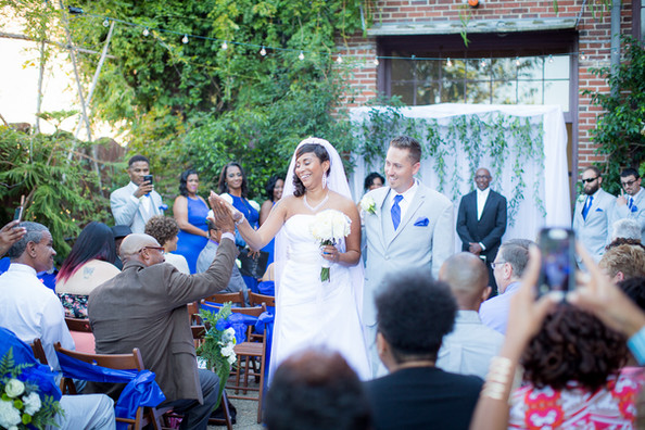 courtyard wedding presentation