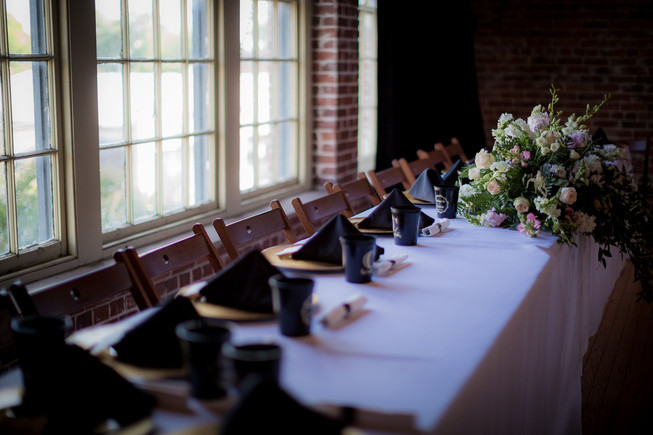 head table setting on stage