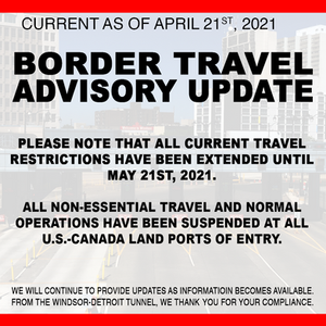 Travel Restriction Extended