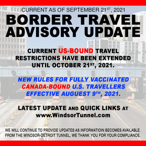 US entry restrictions had extended until October, 21, 2021