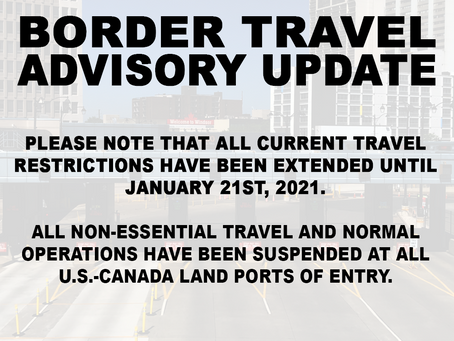 Travel Restrictions Extended
