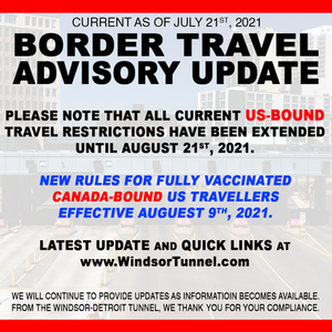 US Travel Restriction Extended; CAN Easing Entry Restriction on Aug 9