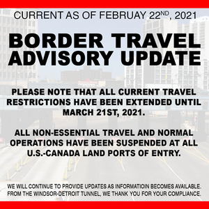 Restrictions Renewed; New Entry Policies