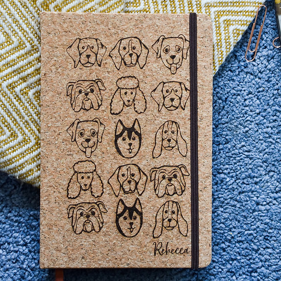 'All the Dogs' Cork Notebook