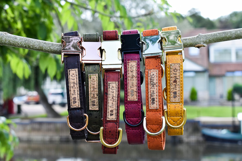 Autumnal Cork Dog Collars