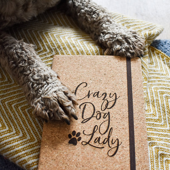 'Crazy Dog Lady' Cork Notebook